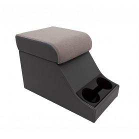 Cubby box noir avec coussin haut