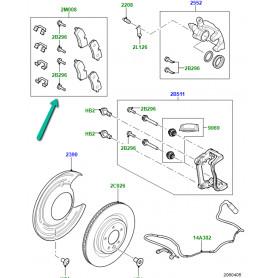 kit plaquettes de frein Range L405, Sport