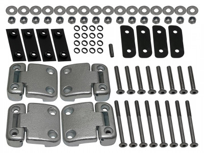Kit charnieres complet pour portes arrieres defender station wagon visserie inox