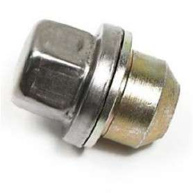 Wheel nut with washer