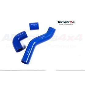 Terrafirma silicone intercooler hose kit blue d3 tdv6
