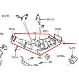 Front exhaust catalyst assembly freelander 2 3.2l v6