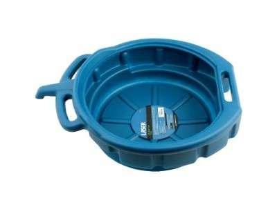 Bac de vidange 16 litres avec rebord anti eclaboussures et bec verseur integre