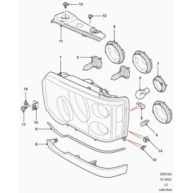 Headlamp assemblyrh - with auto levelling