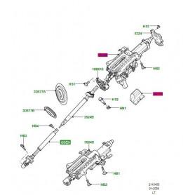Steering column shaft lower d3 lhd