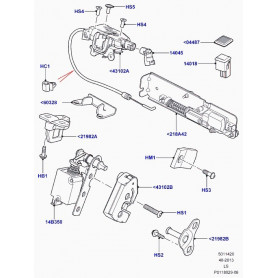 Upper tailgate latch & cable disco 3 / 4
