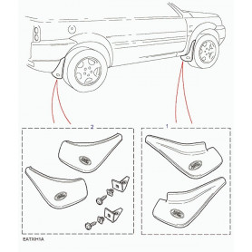 Mudflap - front kit