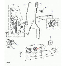 Latch assy-front