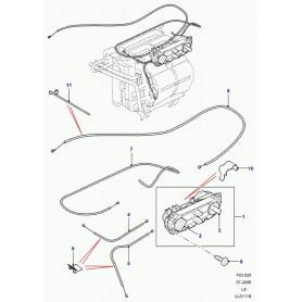 Manette de commandes de chauffage de DEFENDER TD4