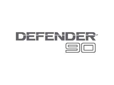 Autollant arriere defender 90 Argenté
