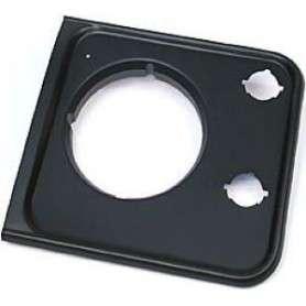 Grille headlight left front black plastic defender