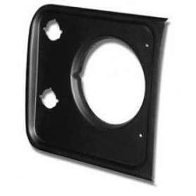 Grille headlight plastic front right black defender