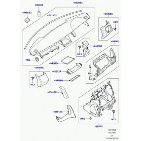 couvercle planche de bord Discovery 3, Range Sport