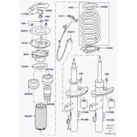 Câblage avec système d'amortissement magnétique droite/gauche
