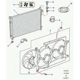 Ventilateur electrique complet de refroidissement