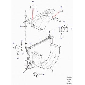 Capotage-ventilateur-système de refroidissement supérieur