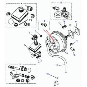 Repair kit brake servo