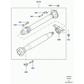 Rear drive shaft with bearing - l322