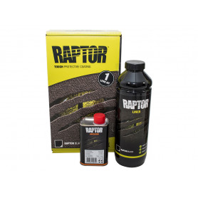Raptor bottle black finish + hardener