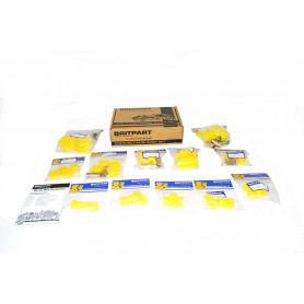 Britpart yellow polyurethane bush kit - defender to 93 chassis number ka930455