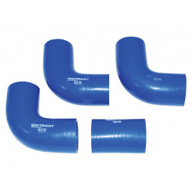 jeu de 3 durites bleues intercoole Defender 90, 110, 130
