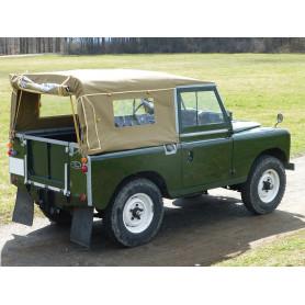Bache series 2 et 3 chassis 88 pouces complete avec fenetres laterales sable