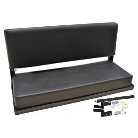 Full rear bench black vinyl