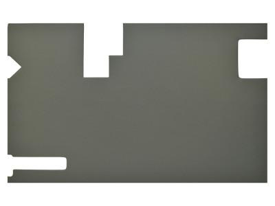 Ensemble enveloppe-hayon granite foncé, avec lave/essuie-glace arrière