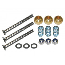Stainless steel door hinge pin kit of 3
