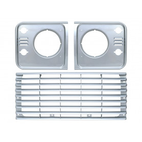Grille and headlamp surround set