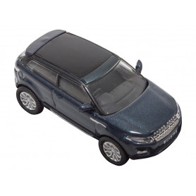 Miniature range rover evoque bleu baltic