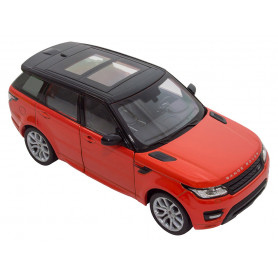 Die-cast 1:24 scale model range rover sport chili red