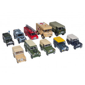 Miniature ensemble de land rover militaire