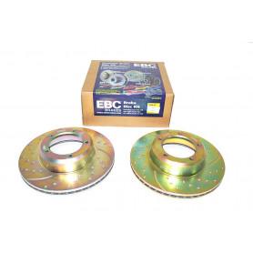 paire de disques de frein de performance ebc - avant / ventilé Defender 90, 110, 130, Discovery 1, Range Classic