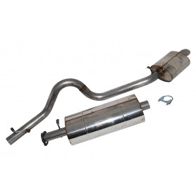 Exhaust stainless double 's' discovery 1 300 tdi, 1994 to 1999