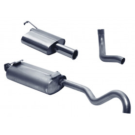 Exhaust stainless double 's' discovery 1 v8 from 1990 to 1999
