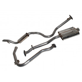 Exhaust stainless double 's' defender 110 200 tdi from 1971 to 1979