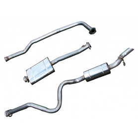 Exhaust stainless double 's' defender 110 300 tdi from 1994