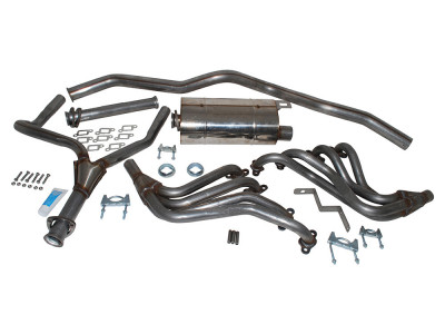 Exhaust stainless double 's' sport defender 110 35 v8