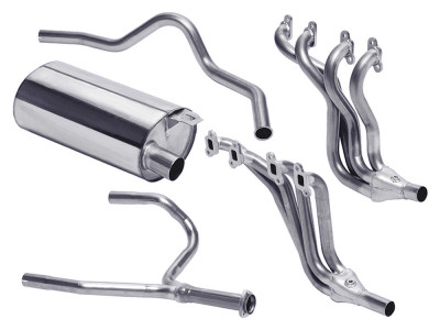 Exhaust stainless double 's' sport v8 defender 90 35