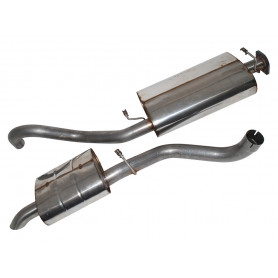 Exhaust stainless double 's' classic 39/42 v8 range from 1989 to 1994