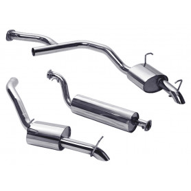 Exhaust stainless double 's' range rover p38 v8 from 1997 to 2002