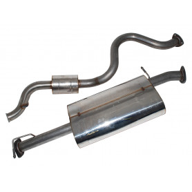 Exhaust stainless double 's' defender 110 td5