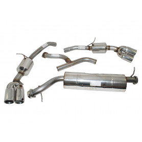 Exhaust stainless double 's' sport range rover p38 v8 from 1997 to 2002