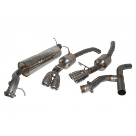 Exhaust stainless double 's' sport range rover p38 diesel from 1994 to 1997