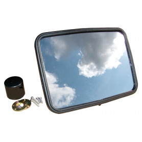 Unbreakable mirror head flat