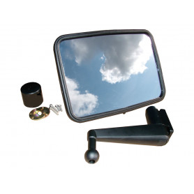 Unbreakable mirror kit flat short arm