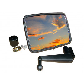 Unbreakable mirror kit convex short arm