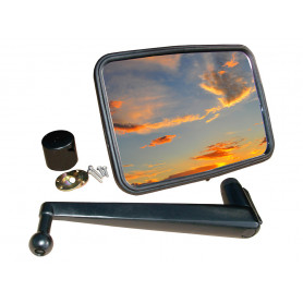 Unbreakable mirror kit convex long arm