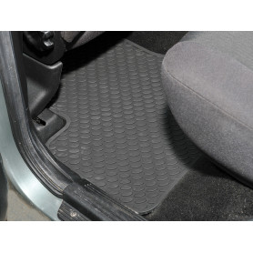 Rubber mat set rear f/lander 1997+